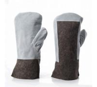 Вачеги суконные со спилком (сукно шинельное, спилок кожевенный)